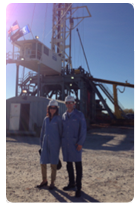 Marianne Horinko and Brendan McGinnis on site in Oklahoma City